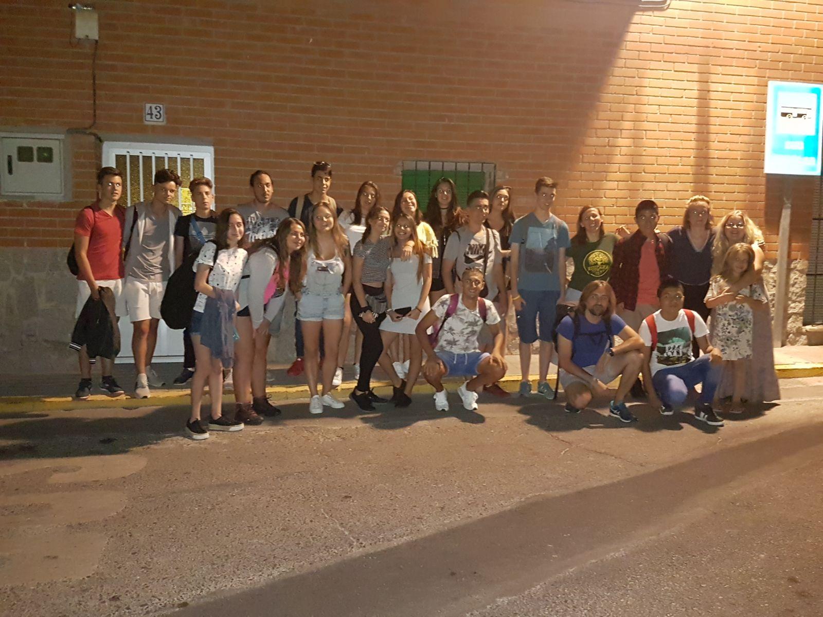 Salida del grupo desde Numancia de La Sagra
